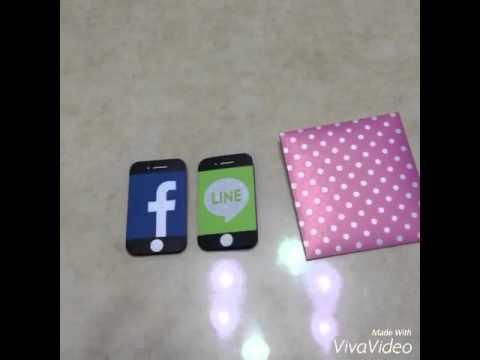 iphone手機app(FB/Line)卡片 - YouTube