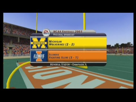 NCAA Football 2003: Season Game 5: Illinois vs Michigan
