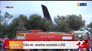 Más de 250 muertos deja un accidente de avión militar argelino
