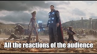 All the reaction of the audience to the appearance of Thor/ Все реакции зрителей на появление Тора
