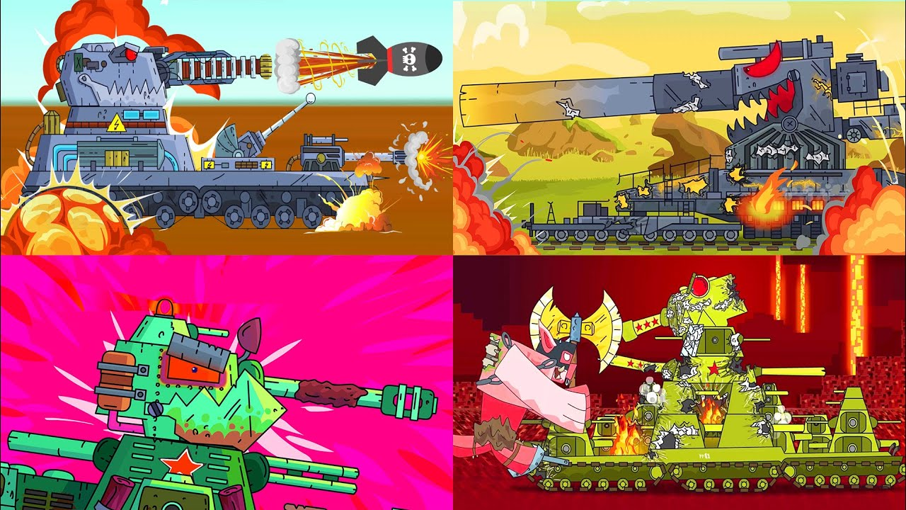 Download Animation about tanks 1 hour full episodes. Monster Truck children. World of tanks cartoon.