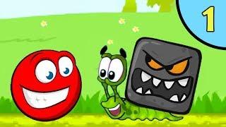 Несносный КРАСНЫЙ ШАР против чёрного квадрата #1. Мультик ИГРА для детей Red Ball 4 на Игрули TV