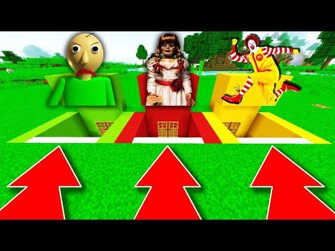 NE CHOISISSEZ PAS LE MAUVAIS BUNKER MINECRAFT !! Baldi Annabelle Ronald McDonald !