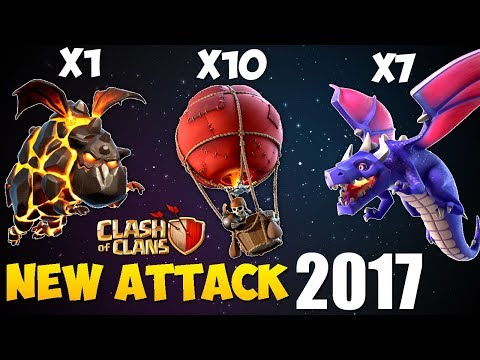 Balloons + Dragons + Lava: LABADRA NEW TH9 STRONG WAR ATTACK STRATEGY 2017 | Clash of Clans