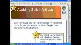 Avoiding Split Infinitives in Writing