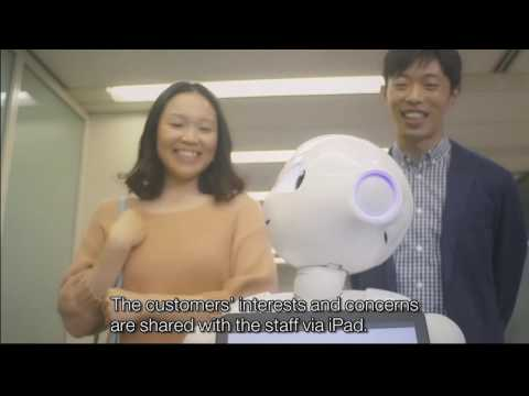 """Robot """"Pepper"""" from Mizuho Bank – Silver in Physical Distribution category at #DMIAwards16"""