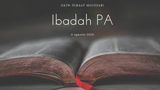 Ibadah PA 4 Agustus 2020 - GKJW Jemaat Mojosari