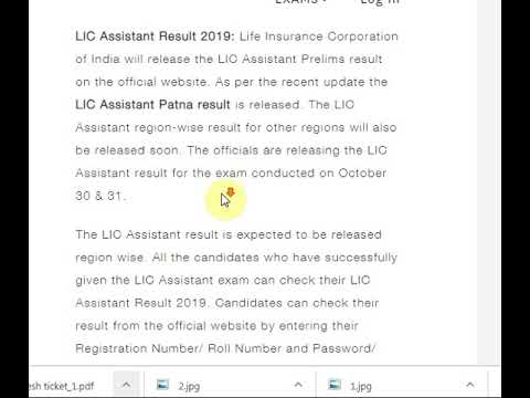 LIC Assistant Result 2019 For Prelims
