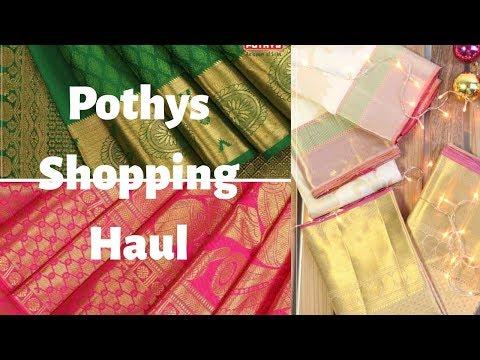Repeat Pothys saree shopping haul   Pothys shopping haul in