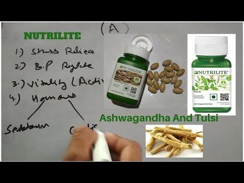 Ashwagandha & Tulsi - Nutrilite - Amway in hindi