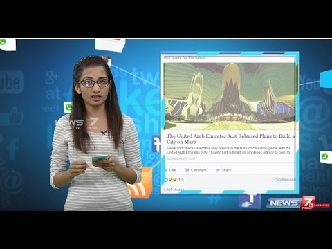 UAE plans to build a mini-city on MARS | #Vingyanam | News7 Tamil