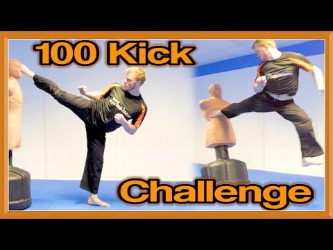 Martial Arts 100 Kick Challenge  | GNT