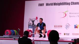 Vladimir Sedov snatch and c&j in WWC 2013 Poland