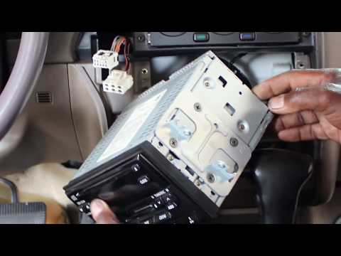 Nissan Pathfinder Bluetooth Car Stereo Install JVC KW-R925BTS Part 1 (removing The Factory Radio)