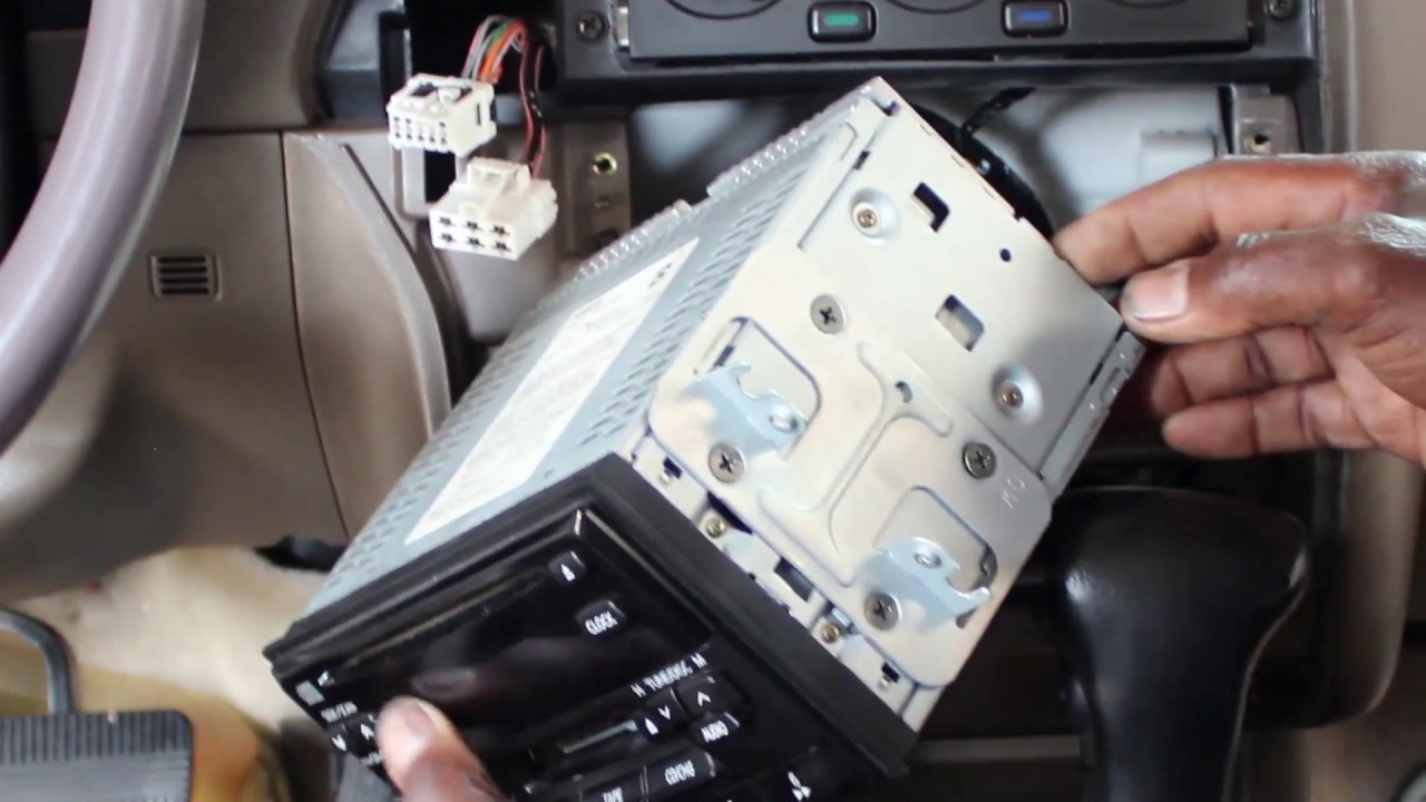 Nissan Pathfinder Bluetooth Car Stereo Install JVC KWR925BTS Part 1 (removing the factory radio