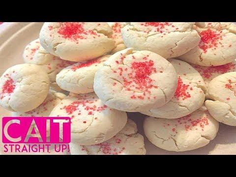 3 Ingredient Sugar Cookies Recipe | Cait Straight Up