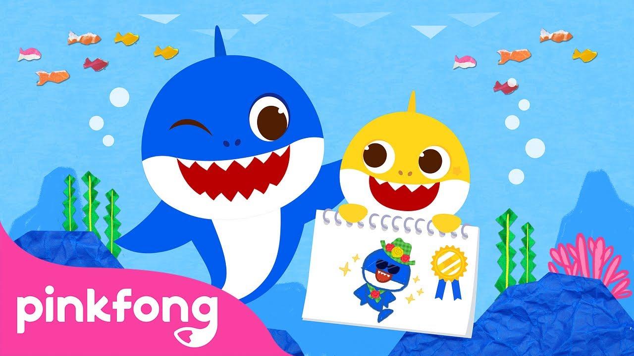Лучший день отца с Акулёнком | Акулёнок Месяц | Русский язык | Пинкфонг Песни для Детей