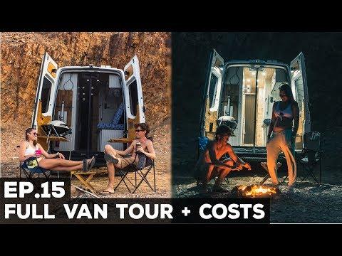 Ep.15 Sprinter Van Conversion   Full Van Tour + Costs