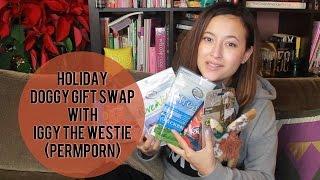 Holiday Doggy Gift Swap W/ Iggy The Westie & Permporn | Friedia