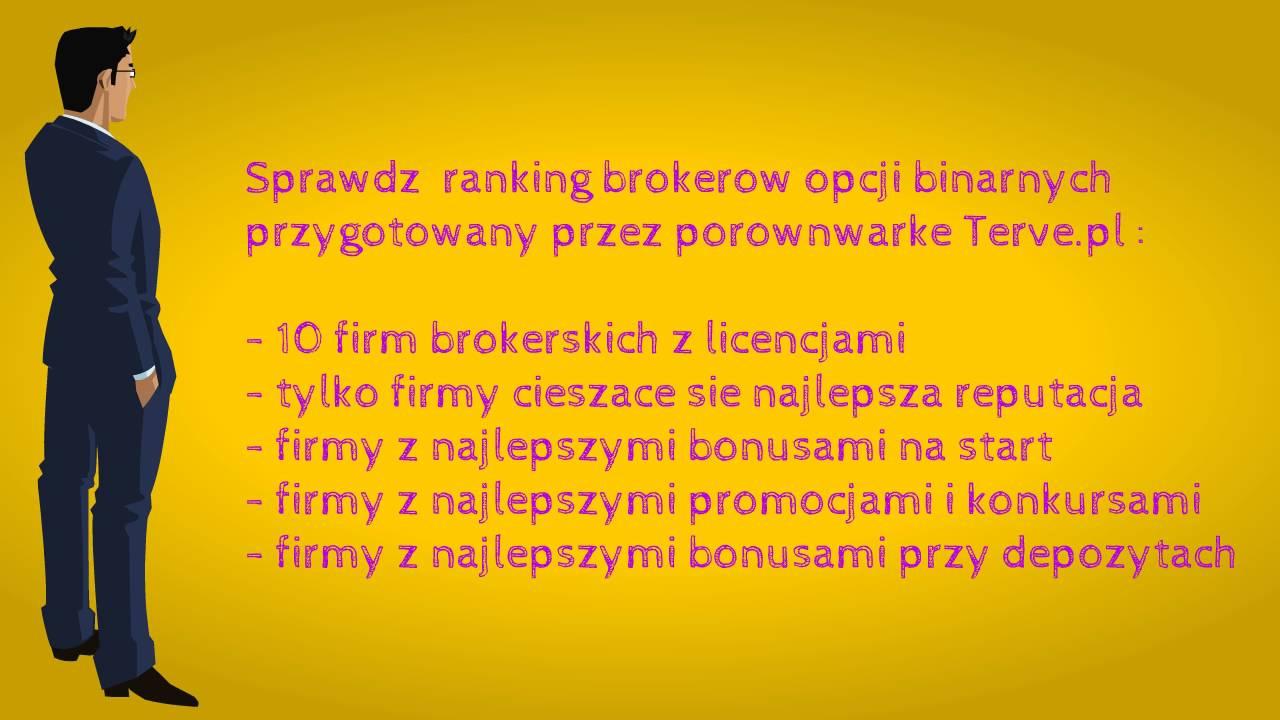 Opcje Binarne Brokerzy