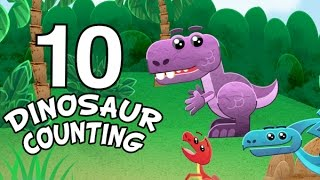 Dinosaurs count to ten - Counting with Baby T-Rex - Counting numbers