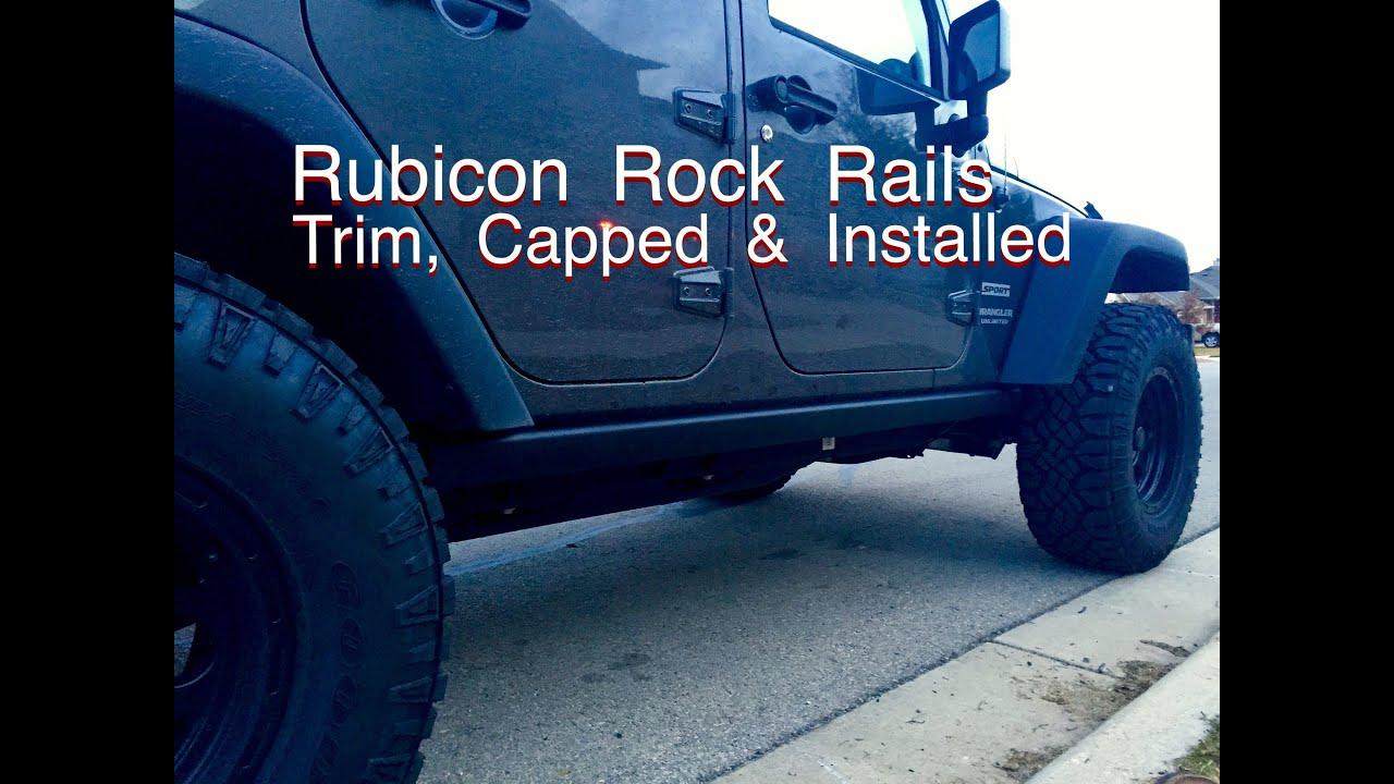 Jeep Jk Wrangler Rubicon Rock Rails Mod Trim Re Cap And