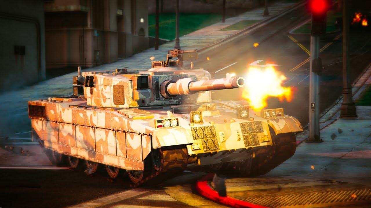 GTA V - Tank going RAMPAGE in Los Santos - Cinematic