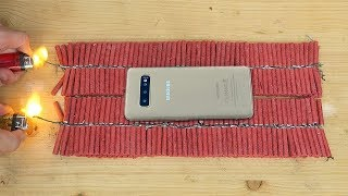 Samsung Galaxy S10 vs 1000 Firecrackers