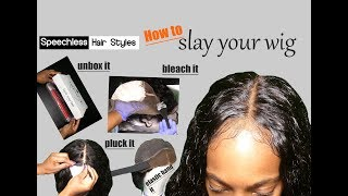 How To Slay Your Lace Wig! unboxing, bleaching, plucking, elastic band method!