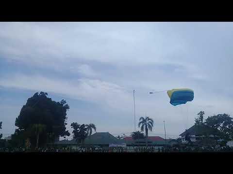 Aksi Terjun Payung TNI-AD Pukau Warga Palopo