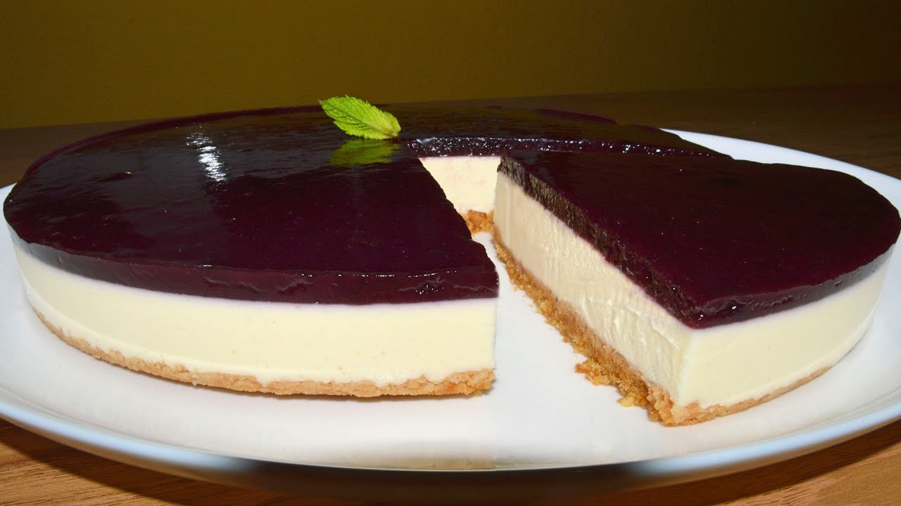 tarta de queso con arándanos en ingles