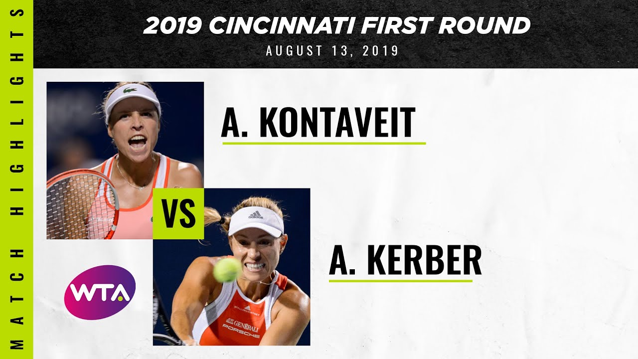 Angelique Kerber vs. Anett Kontaveit  | 2019 Cincinnati First Round | WTA Highlights