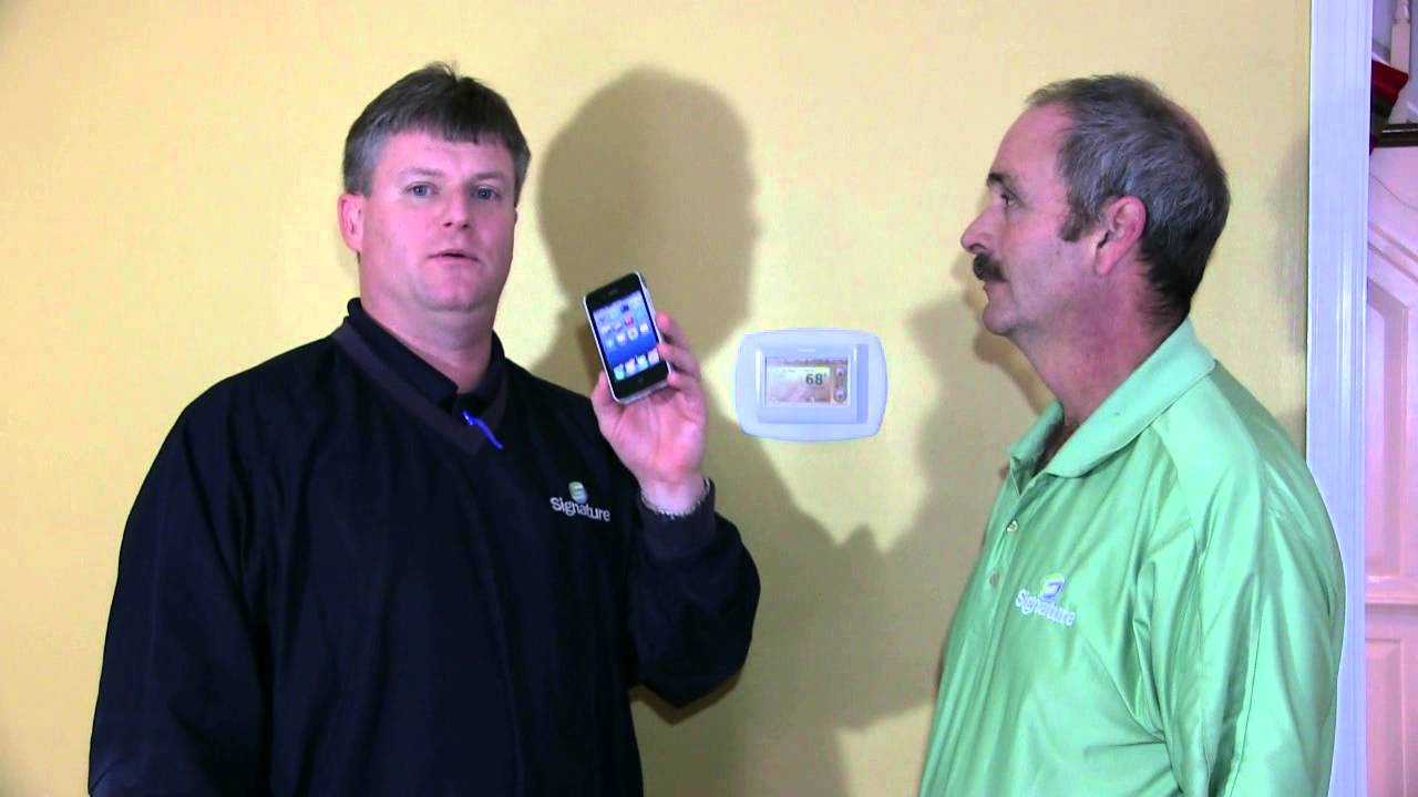 Controlling Your Honeywell Prestige Iaq Hd Thermostat From A Smart Phone Youtube
