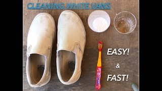 CLEANING WHITE VANS || FAST & EASY! ||