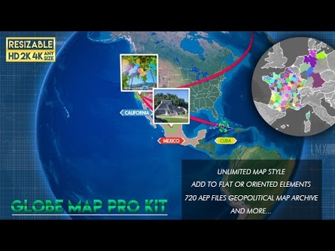 Globe map pro kit after effects template youtube globe map pro kit after effects template gumiabroncs Image collections