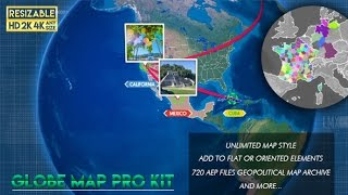 Ultimate infographics world map pro kit after effects templates globe map pro kit after effects template sciox Images