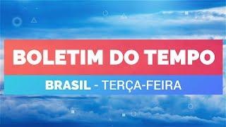 Previsão Brasil - Tempo instável no SE e CO
