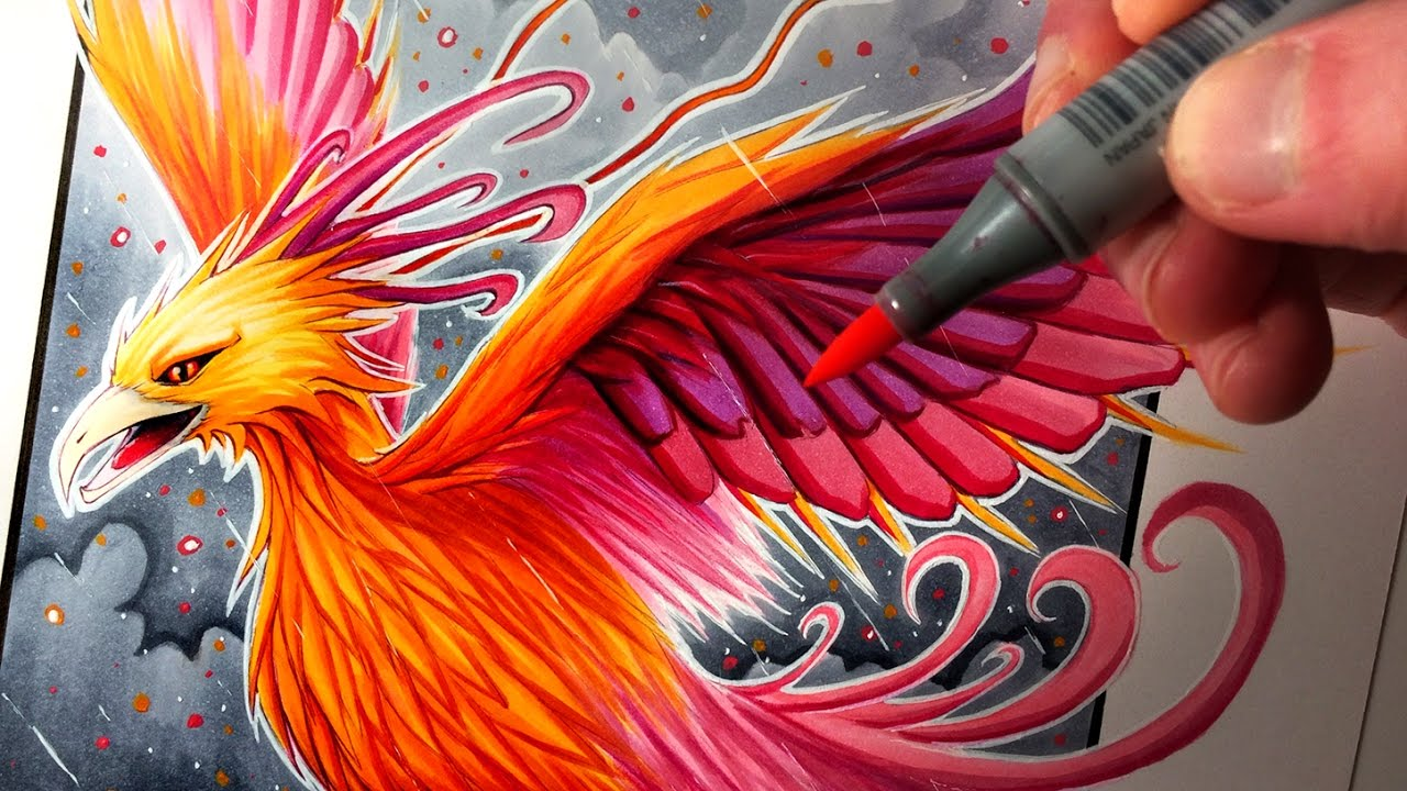 Let S Draw A Phoenix Fantasy Art Friday