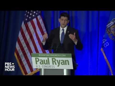 Watch Paul Ryan address Trump presidential victory
