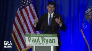 Watch Paul Ryan address Trump presidential victory