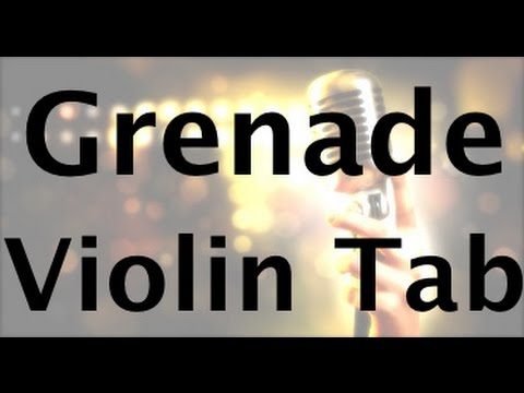 How to play Grenade on the violin