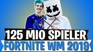 FORTNITE WM 2019 | 125 MILLIONEN SPIELER | NINJA GEWINNT E3 TURNIER | FORTNITE BATTLE ROYALE