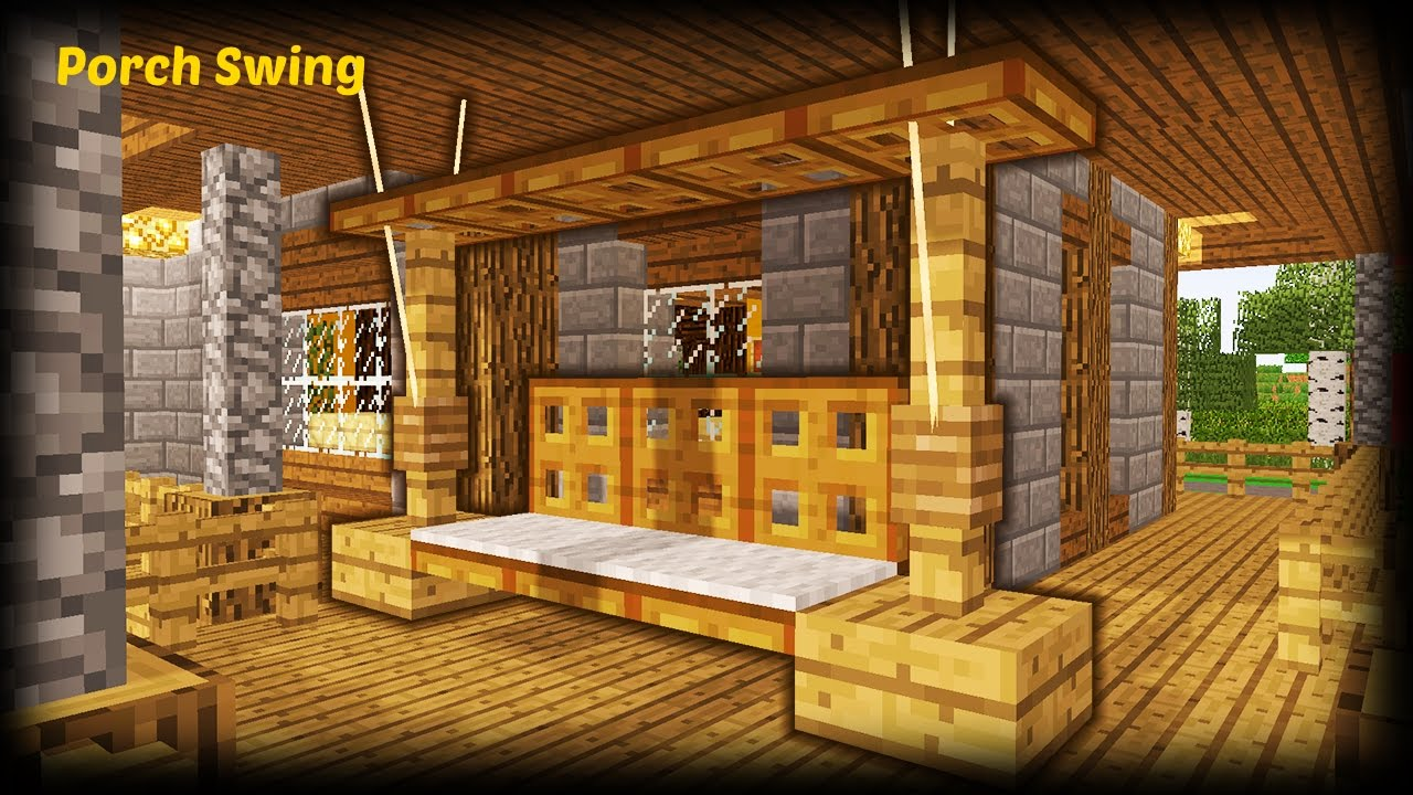 Minecraft - How To Make A Porch Swing