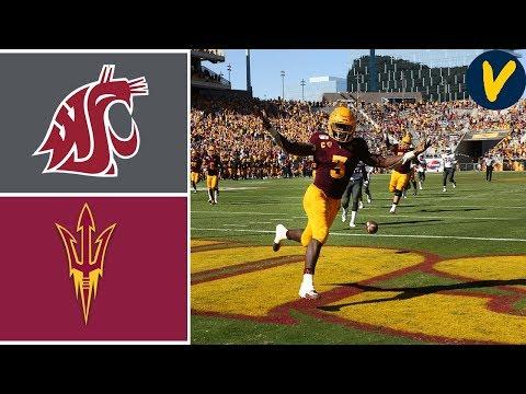 Washington State Vs #18 Arizona State | Week 7 | College Football Highlights | 2019