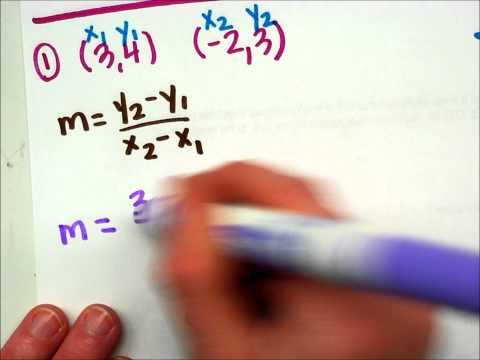 Using The Slope Formula.wmv