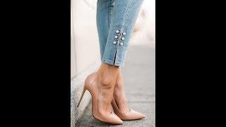 Переделка джинсов  -   декоративная отделка низа джинсов