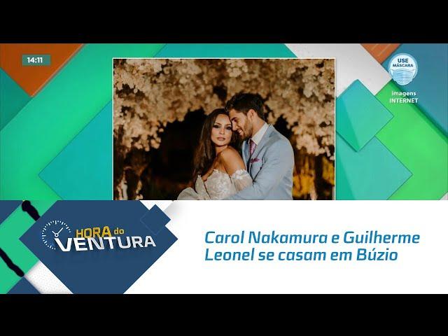 Carol Nakamura e Guilherme Leonel se casam em Búzio