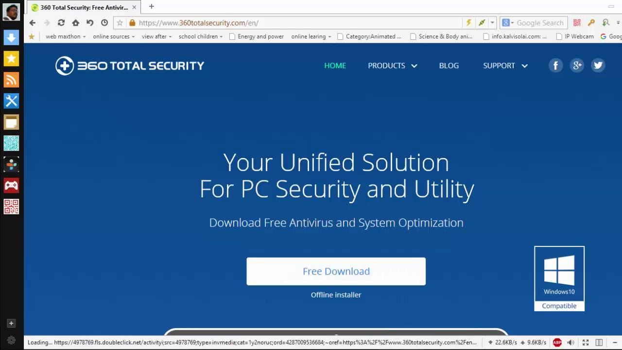 how to install an antivirus software free - 360 total security - Tamil