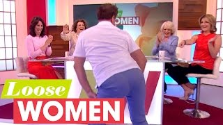 John Barrowman Slut Drops In Heels And Demonstrates Men's Uplifting Underwear!   Loose Women