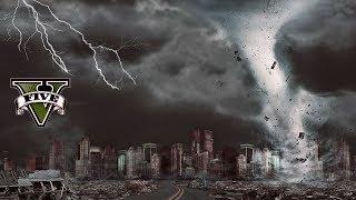 SCARY TORNADO HIT OUR NEIGHBORHOOD!! GTA 5 End of Los Santos Mod